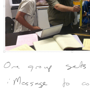 Using OneNote, I took pictures and handwrote notes during an observation.