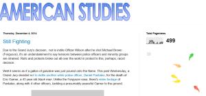 American Studies - Student Blog