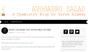 Avogadro Salad - A Chemistry Blog by Sarah Almeda (10th Grade)